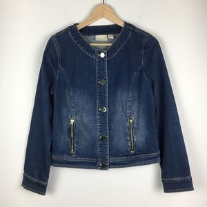 Chico's Denim Jeans Jacket Size 0 - Small 4